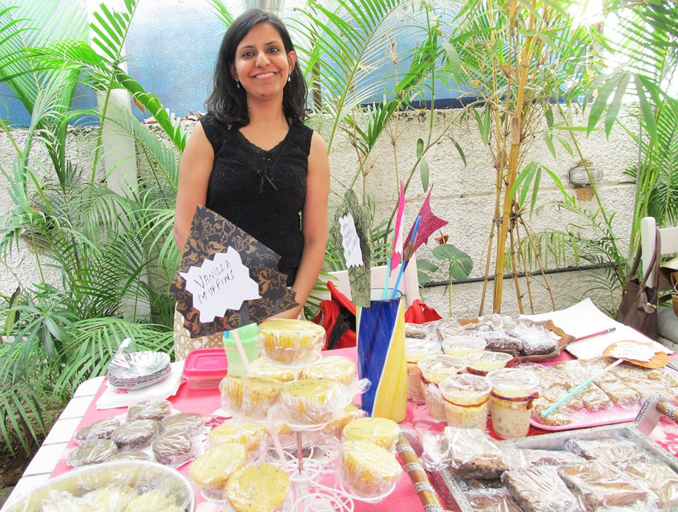 Simran with her bakes