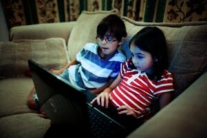 Children surfing the web