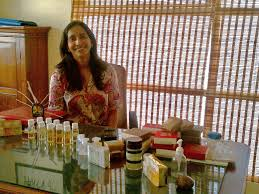 Ally Matthan with her products