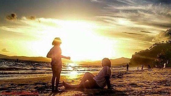 Sunset on the beach- Jessie Paul