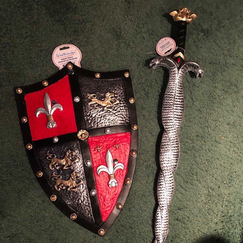 Knight Shield, Snake Sword, Great Pretenders