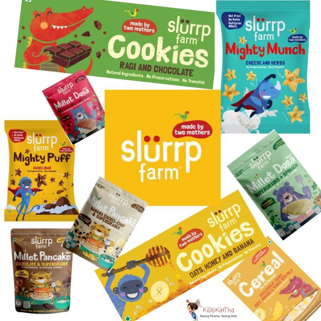 Slurrp Farm Product Collage