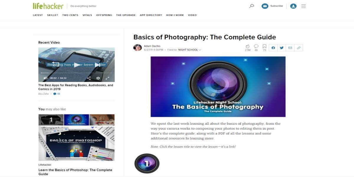 Teaching Photography Basics- Basics of photography