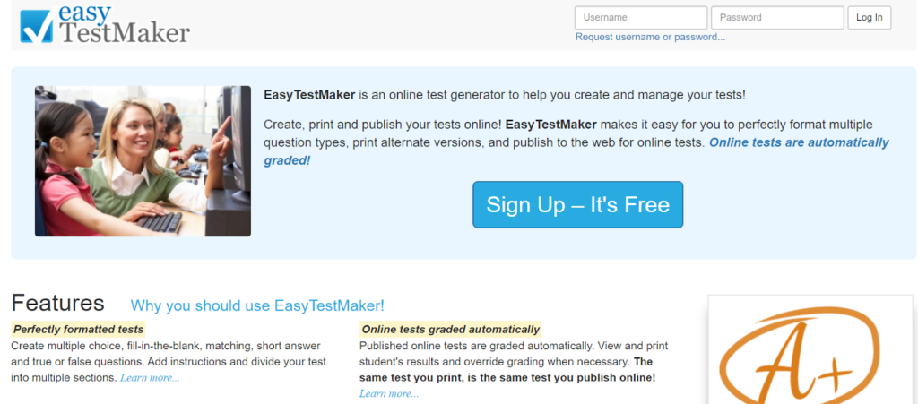 Easy testmaker- Online Test maker tool
